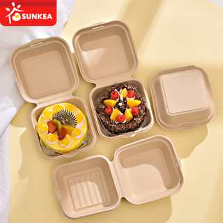 Compostable Eco friendly Clamshell Box Clamshell Packaging for Burger And Cake