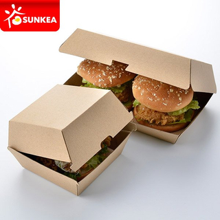 F-flute Kraft Paper Burger Clamshell Box