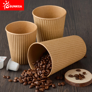 Bamboo fiber ripple wall paper cup