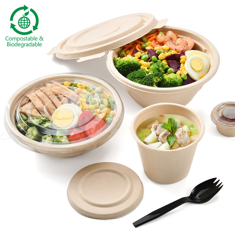 Biodegradable food grade wheat straw paper bowl