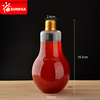 Plastic bulb shape juice bottle