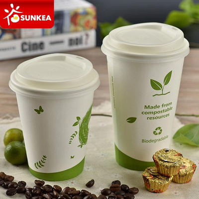 PLA lined coated single wall coffee paper cup
