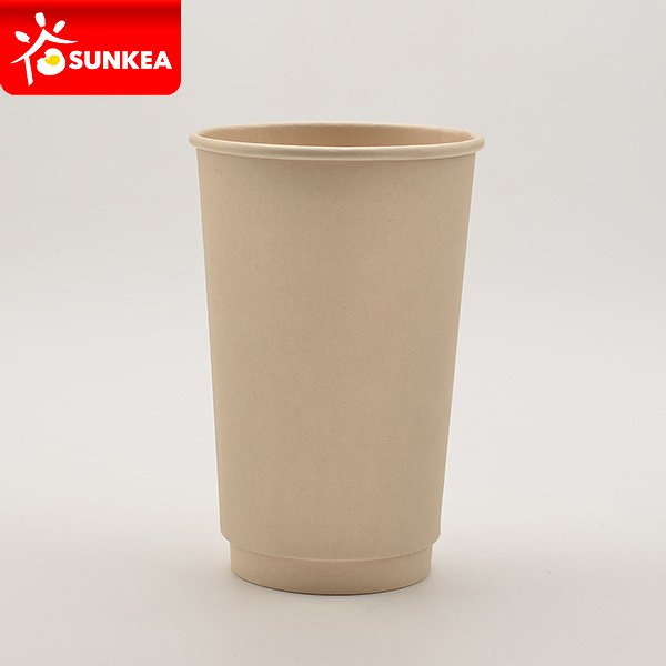 Bamboo fiber double wall paper cup