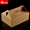 Takeaway 3 Layers Kraft Food Paper Lunch Box