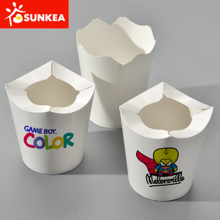 Round small paper snack box