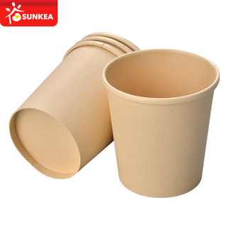 Bamboo fiber soup paper cup