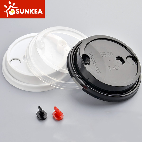 Disposable PP plastic frosted cup with PP lid