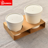 Brown kraft paper soup cup big carrier carry tray cup holder
